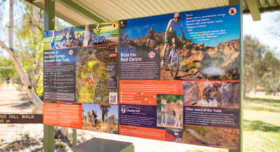 Mountain Bike trails and walking paths from the Alice Springs Telegraph Station - Park Activities
