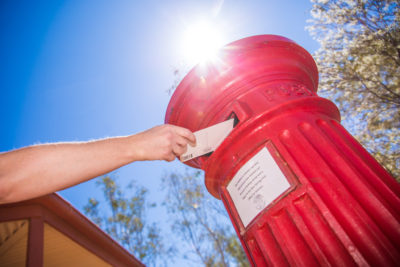 Original Red Post Box at the Alice Springs Telegraph Station - still a registered and operational Post Office today