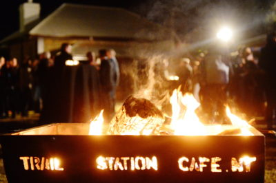 Alice Springs Telegraph Station Fire Bins for atmosphere - and warmth! A great place to huddle and chat
