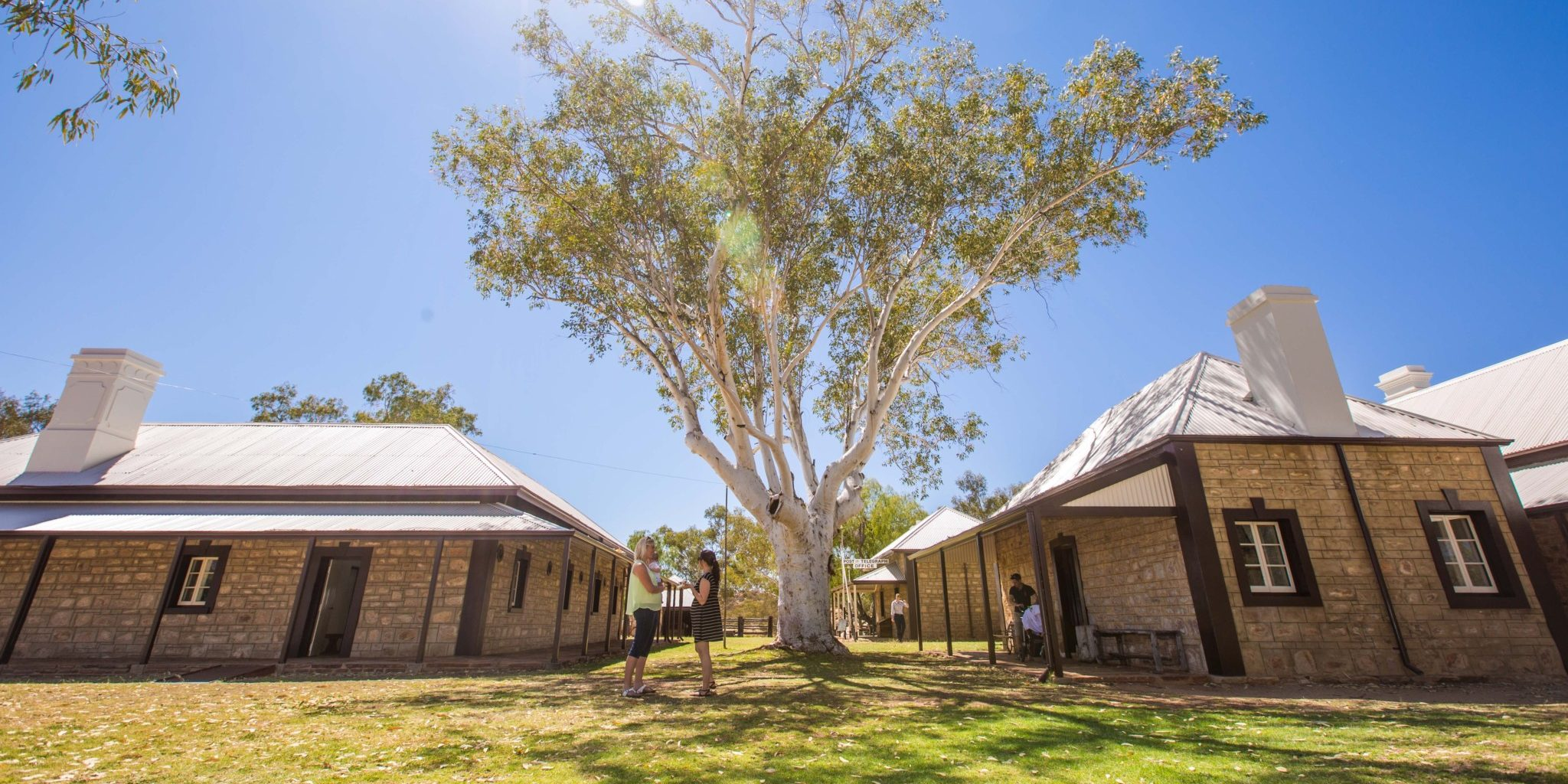 The beautiful bush grounds of the Alice Springs Telegraph Station Historical Precinct