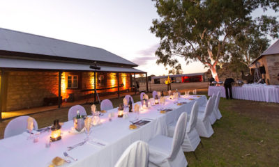 Wedding Reception Dinners at the Alice Springs Telegraph Station are a special finish to a big day