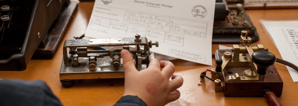 Try your hand at Morse Code at the Alice Springs Telegraph Station